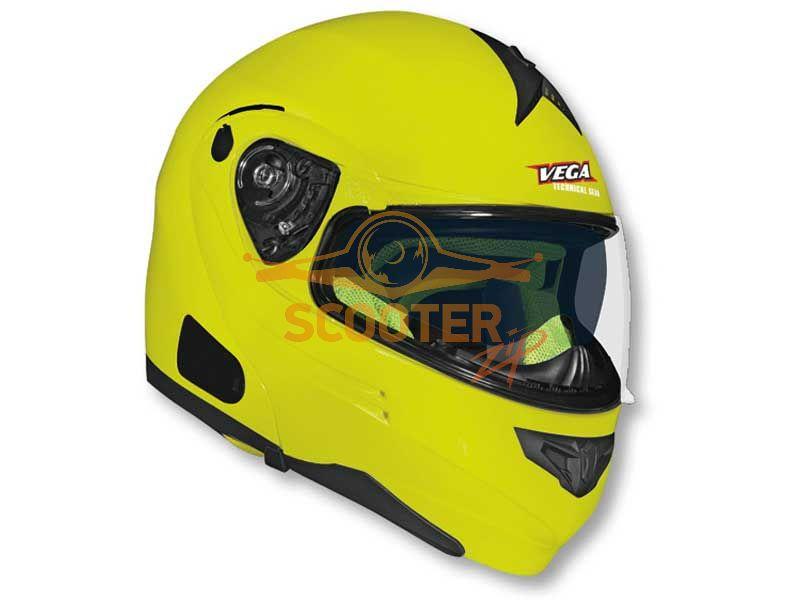 Шлем (модуляр) HD185 Solid  Hi-Vis желтый глянцевый
