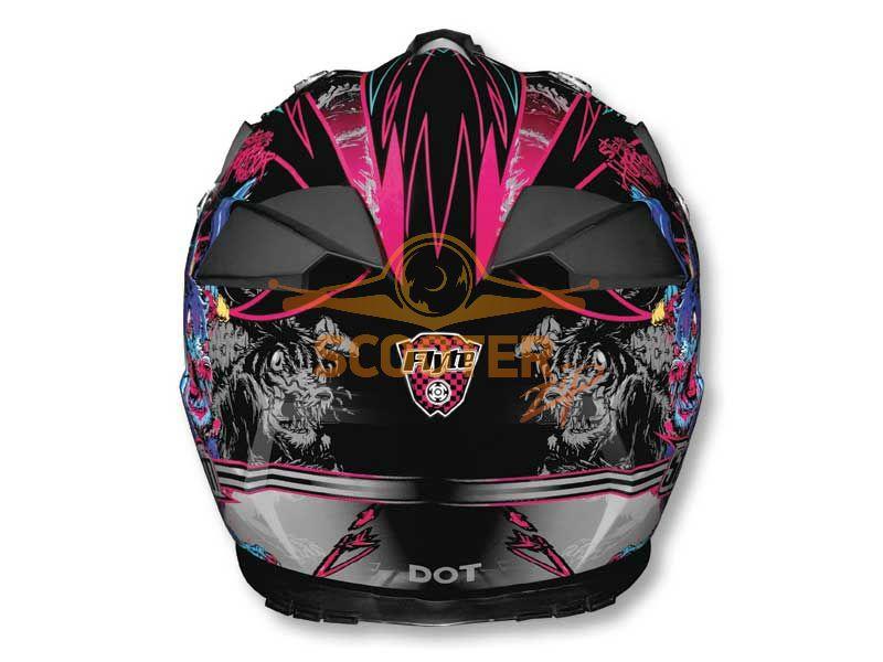 Шлем (кроссовый)  HD210  Horror Project Graphic глянцевый