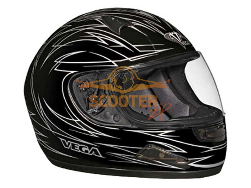 Шлем (интеграл)  HD188  Pinstripe серый/черн. матовый