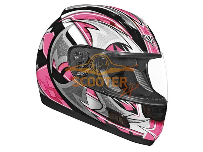 Шлем (интеграл)  ALTURA  Shuriken  розовый/черн. глянцевый