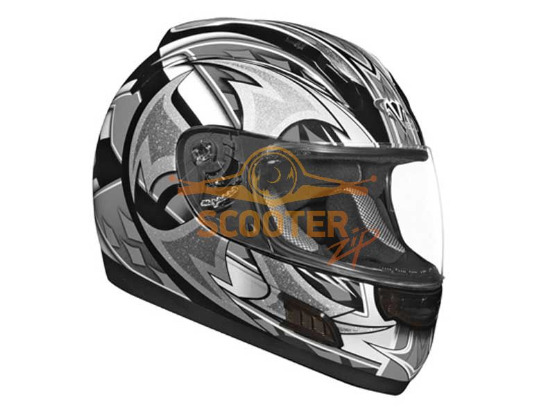Шлем (интеграл)  ALTURA  Shuriken  серый/черн. глянцевый