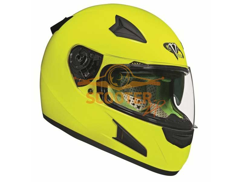 Шлем (интеграл)  HD188  Solid  Hi-Vis желтый глянцевый