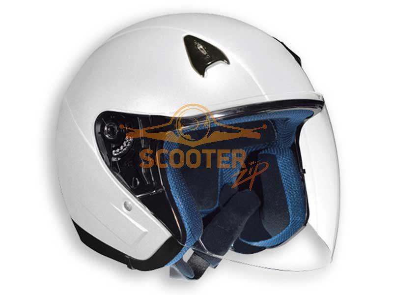 Шлем (открытый со стеклом) NT-200 Solid белый глянцевый