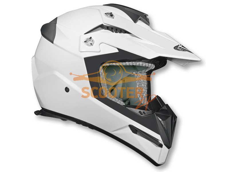 Шлем (кроссовый)  HD210  Solid белый матовый