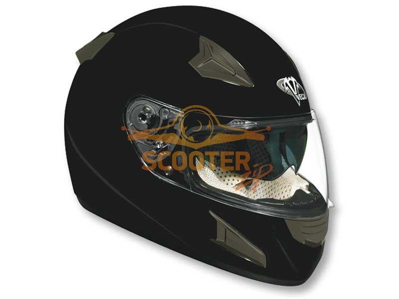 Шлем (интеграл)  HD188  Solid  черный глянцевый