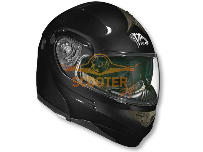 Шлем (модуляр) HD185 Solid черный глянцевый