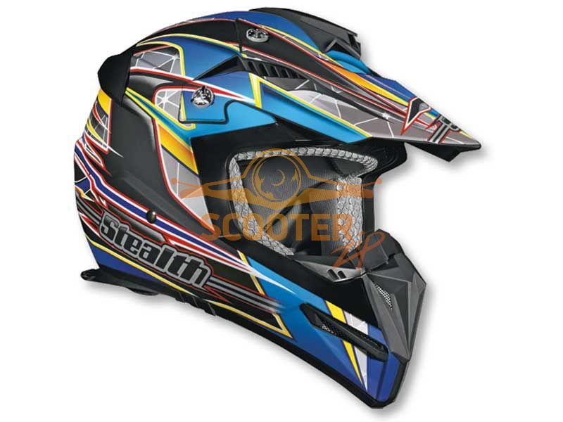 Шлем (кроссовый)  HD210  Speed синий матовый