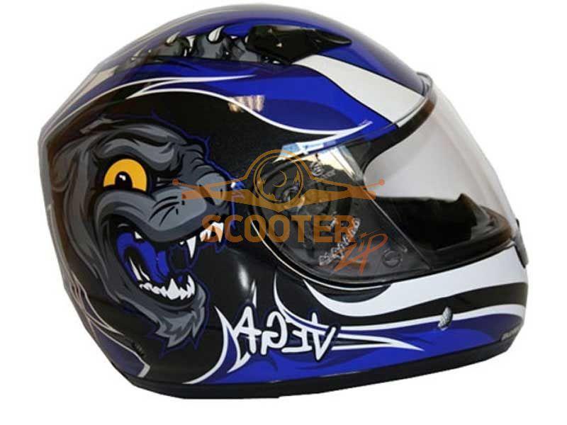 Шлем детский (интеграл)  MACH-I  JR.  Wildcat  синий глянцевый