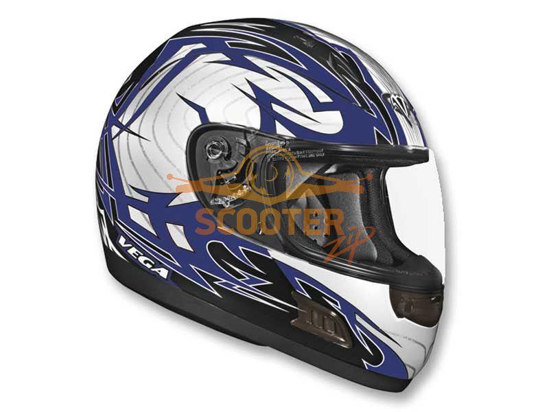 Шлем Vega (интеграл) ALTURA Stryker  синий/черн. глянцевый