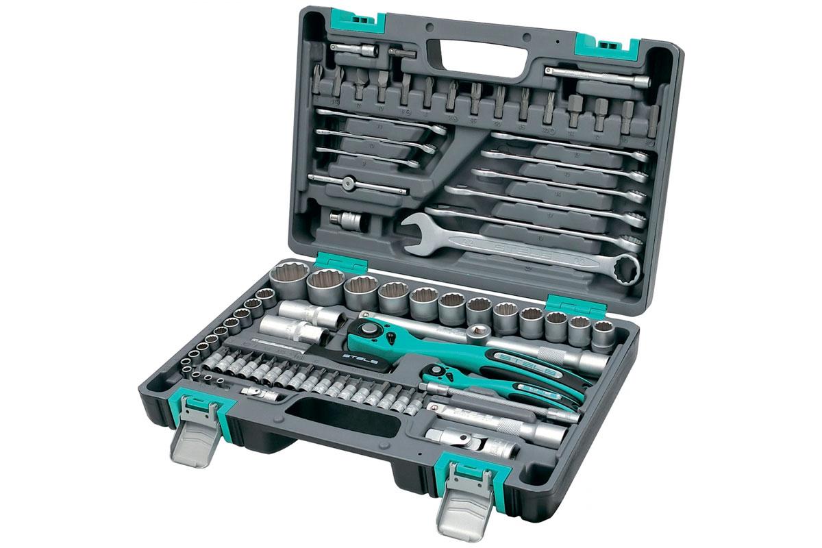 Набор инструментов, 82 предмета, 12-гранные головки STELS