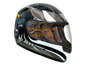 Шлем детский (интеграл)  MACH-I  JR.  Wildcat  серый глянцевый