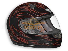 Шлем (интеграл)  HD188  Pinstripe красный/черн. матовый