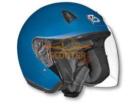 Шлем (открытый со стеклом) NT-200 Solid синий матовый