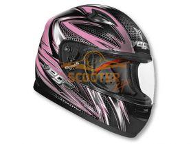 Шлем детский (интеграл)  MACH-2  JR.  Razor  розовый глянцевый