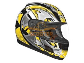 Шлем (интеграл)  ALTURA  Shuriken  желтый/черн. глянцевый