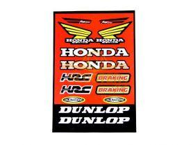 Наклейки, набор (22х33) Honda red