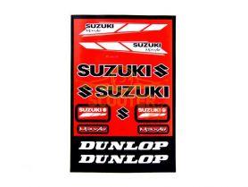 Наклейки, набор (22х33) Suzuki red