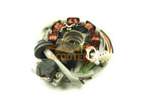 Статор генератора  Yamaha JOG / 1E40QMB, 1E50QMB (7 катушек 6 контактов) (Тайвань)