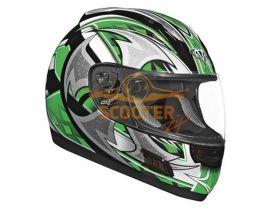 Шлем (интеграл)  ALTURA  Shuriken  зеленый/черн. глянцевый