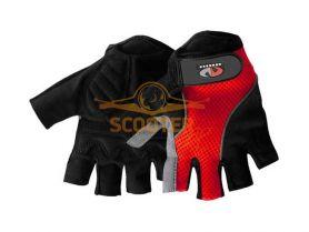 Перчатки без пальцев VEGA NM-963 красн/черные