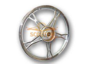 Диск колеса 17 x 1.20 передний барабанный тормоз (колодки d-110мм) мопед