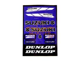 Наклейки, набор (22х33) Suzuki blue