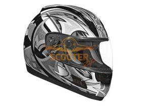Шлем (интеграл)  ALTURA  Shuriken  серый/черн. матовый