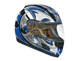 Шлем (интеграл)  ALTURA  Shuriken  синий/черн. глянцевый