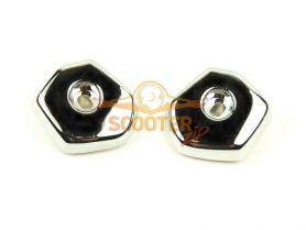Заглушки пола боковые серебристые (пара) Honling QT-6