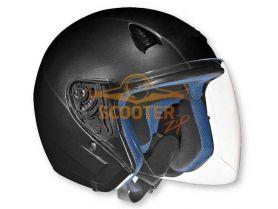 Шлем (открытый со стеклом) NT-200 Solid черный матовый