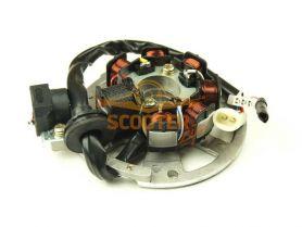 Статор генератора Yamaha JOG / 1E40QMB, 1E50QMB (7 катушек 6 контактов)