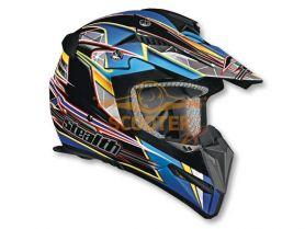 Шлем (кроссовый)  HD210  Speed синий глянцевый