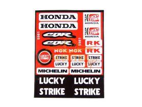 Наклейки, набор (18х22) Honda CBR