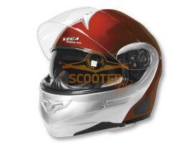 Шлем (модуляр) HD185 Two Tone красный серебристый глянцевый