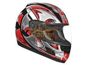 Шлем (интеграл)  ALTURA  Shuriken  красный/черн. глянцевый