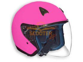 Шлем (открытый со стеклом) NT-200 Solid розовый глянцевый