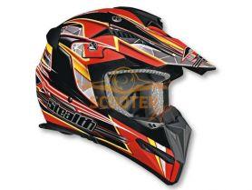 Шлем (кроссовый)  HD210  Speed красный глянцевый