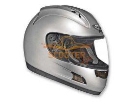 Шлем (интеграл)  ALTURA  Solid  серебристый глянцевый