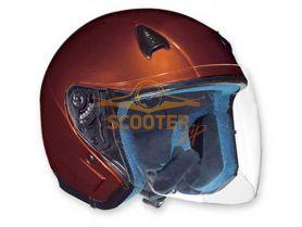 Шлем (открытый со стеклом) NT-200 Solid темно-оранжевый глянцевый