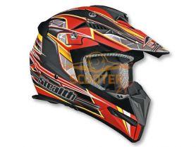 Шлем (кроссовый)  HD210  Speed красный матовый