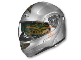 Шлем (модуляр) HD185 Solid серебряный глянцевый