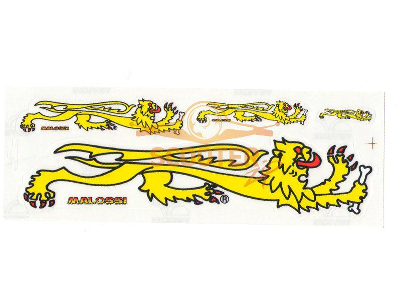 Наклейка LION набор 4 шт (3.5, 7.5, 10.5, 22 см.) MALOSSI (Италия)