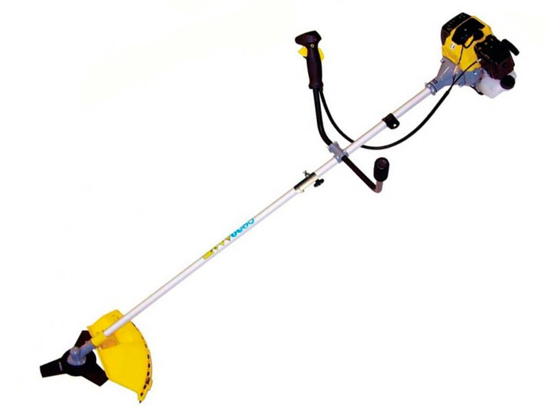 Мотокоса (триммер) CHAMPION Т525-2 (разъемный вал 1, 4кВт 52см3 триммерная головка HT21 + 3-х лопостной нож 255мм; U-ручка 9, 5 кг)