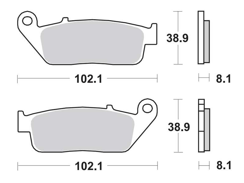 Колодки дискового тормоза Suzuki Burgman-650 (SkyWawe) пара (передние) TRW (Германия)