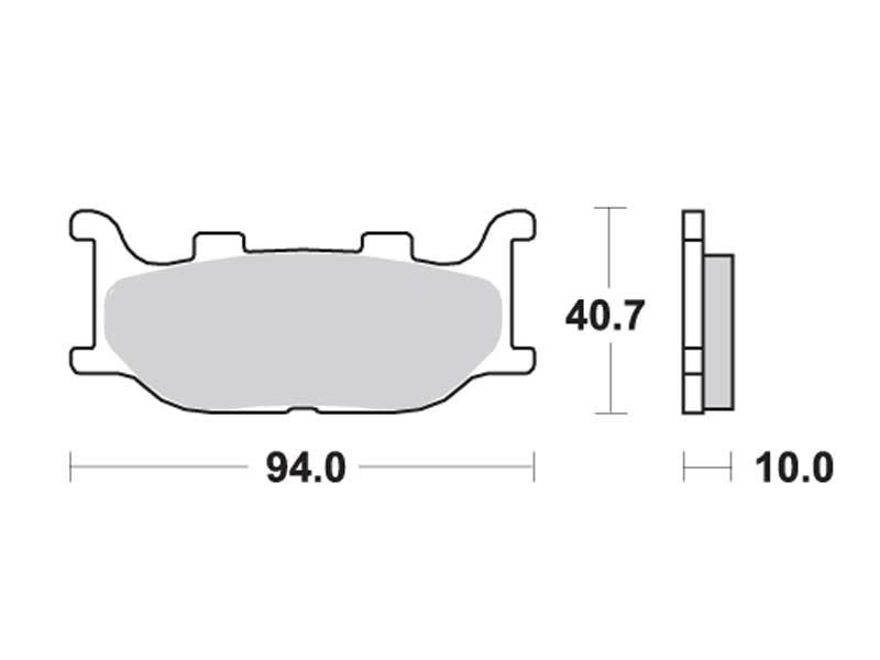 Колодки дискового тормоза Yamaha Majesty 250, 400 SH-05 (2005~) передние TRW (Германия)