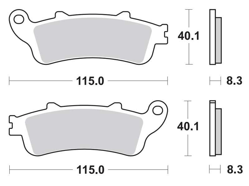 Колодки дискового тормоза HONDA SILVER WING 400/600 (передние) MALOSSI (Италия)