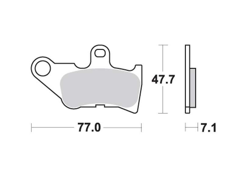 Колодки дискового тормоза Yamaha Jog Cool  TRW (Германия)