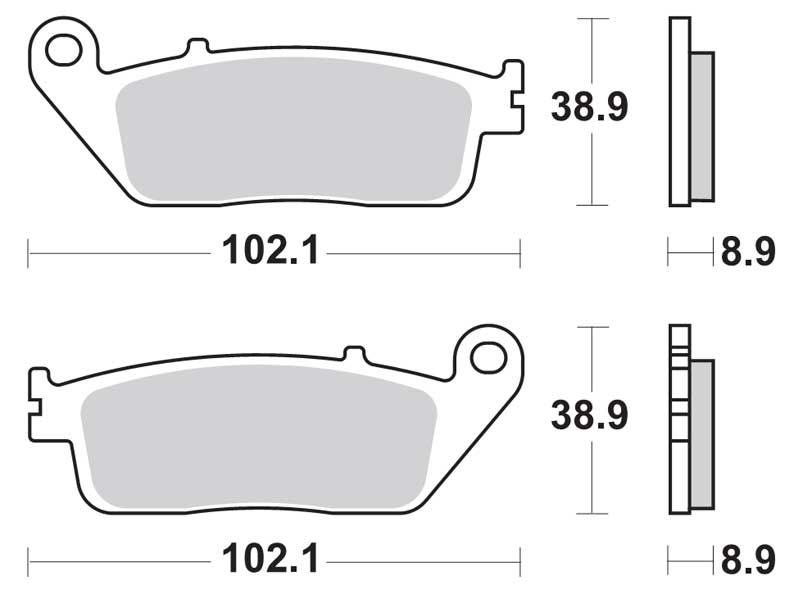 Колодки дискового тормоза HONDA SILVER WING 400/600 (задние) TRW (Германия)
