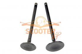 Клапаны (компл. 2шт) для скутера с двигателем 4T 158QMJ Stels/Keeway 150сс стандартные d=23/27