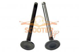 Клапаны (компл. 2шт) для мопеда с двигателем 4T 139FMB 50сс стандартные d=17/18
